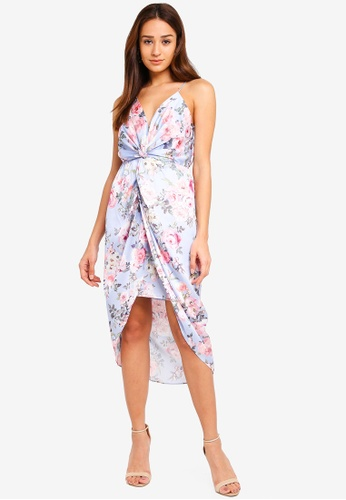 Forever New multi Summer Front Knot Midi Dress 93732AADED133DGS_1