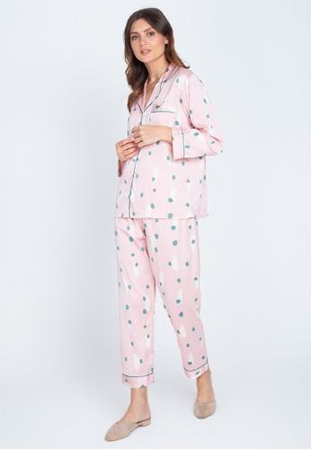 FEMINISM pink Longsleeve Pajama 5984BAA28671B9GS_1