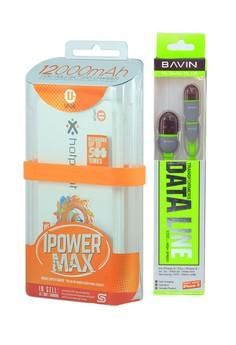 Uplus Powerbank 12000 mAh with BAVIN Data Line