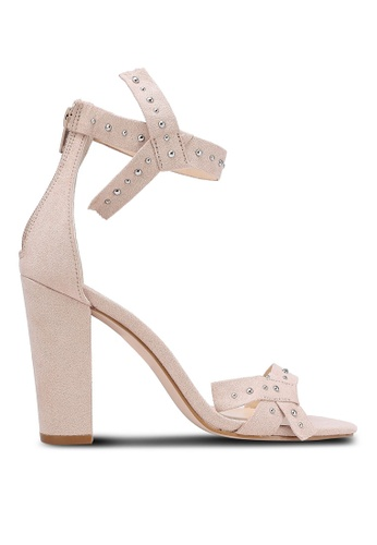 Something Borrowed beige Bow Studded Heels 520B3ZZC1E28D8GS_1