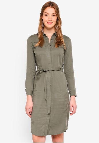 Banana Republic Green Utility Shirt Dress 38e4eaa7c0f382gs 1