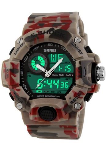 Digitec multi and navy Skmei - Jam Tangan Pria - Red Camouflage - Rubber Strap - 1029-B DI108AC23RUQID_1