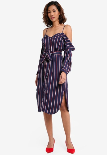Bardot navy Paloma Stripe Dress BA332AA0ST86MY_1
