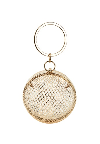 My Flash Trash gold Gold Cage Sphere clutch bag C5B80ACDD3D852GS_1