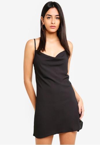 Supre black Cowl Neck Mini Dress 49DBDAA7FB8B73GS_1