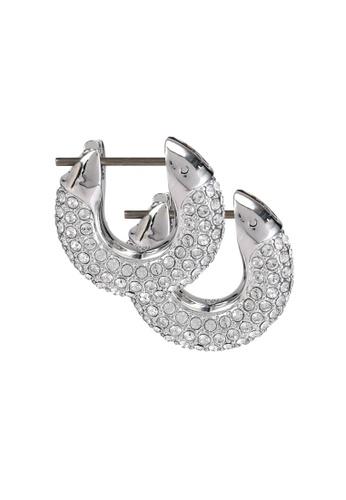 Swarovski white Dextera Hoop Earrings 7B3FAACFF3419BGS_1