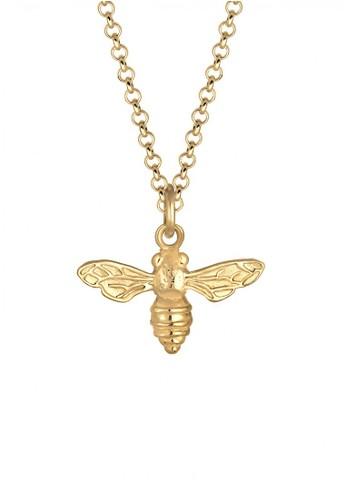 Elli Germany gold Perhiasan Wanita Perak Asli - Silver Kalung Bee Animal Summer Gold Plated EL948AC0UBORID_1