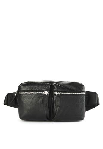 Obermain black Belt Bag Black Leather EF793ACA9679FDGS 1 d46426457c