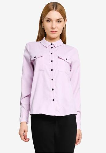 Vero Moda purple Berta Corduroy Shirt 8E6D2AABD78D25GS_1