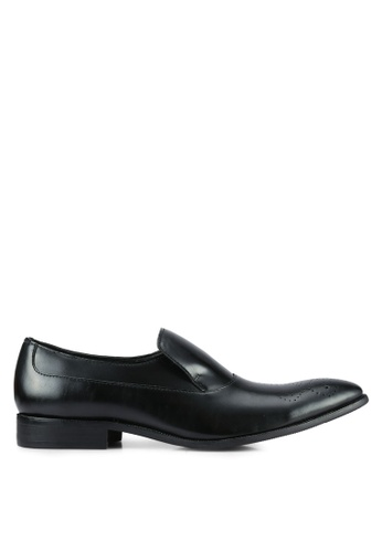 ZALORA black Faux leather Business Loafers 9F316AACA7330EGS_1
