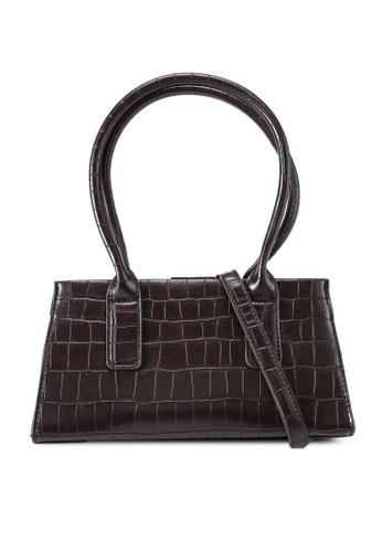 Red's Revenge brown Claudia Croc Oblong Top Handle Bag 746BAAC74573BBGS_1