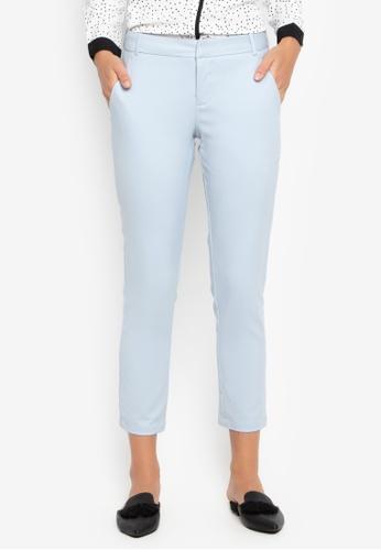 MEMO grey Mid Rise Slim Trousers 6381DAA06C6C22GS_1