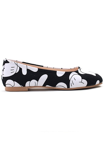 Crystal Korea Fashion black Korean-made Cartoon Palm Flat Shoes EA2B0SH0C6E65CGS_1