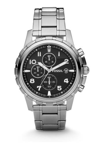 Fossil silver Dean Chronograph Watch FS4542 C6021ACACF0F8EGS_1