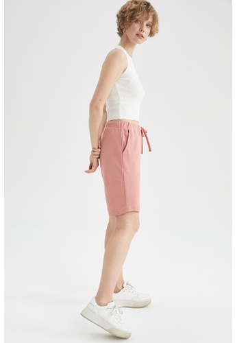 DeFacto pink Lace-up Bermuda Short 6D764AA06BF60AGS_1