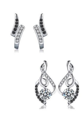 A-Excellence white Premium Elegant White Silver Earring Set AB959AC63AEE3DGS_1