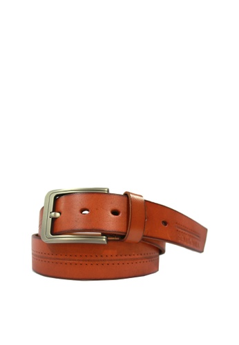 SEMBONIA brown SEMBONIA Men Genuine Leather Belt (Black) 71D7AAC1A6A11CGS_1