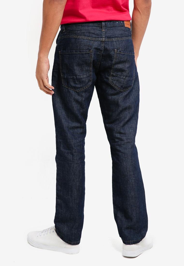 Blue Pants Length Service Dark ESPRIT Denim Wash 6cWvInZ6x