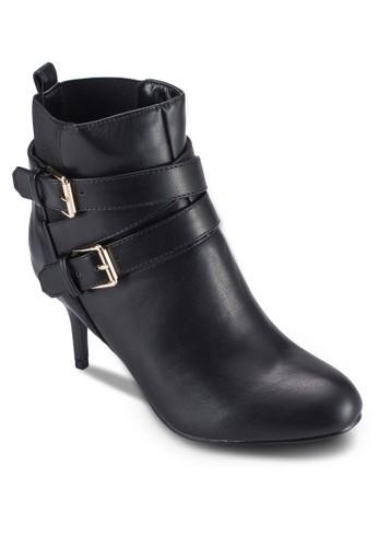 雙扣環高跟踝靴, 女esprit outlet 高雄鞋, 鞋