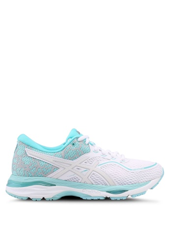 Asics white and blue Gel-Cumulus 19 Lite-Show Shoes AS989SH0SVTFMY_1
