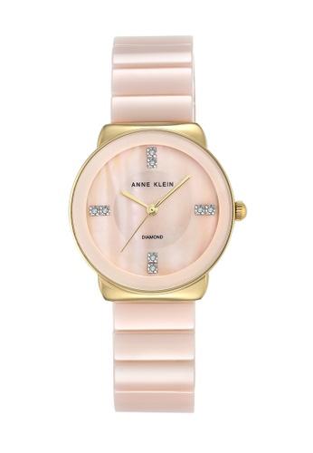 Anne Klein pink and gold Anne Klein Ladies - Diamond Accented Watch - AK-2714LPGB AN844AC0RGT1MY_1