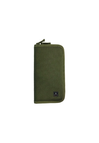 MORAL green Colli Travel Wallet - Military D1070ACD49934EGS_1