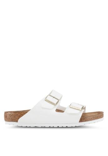 Birkenstock white Arizona Patent Sandals 2B794SHA68BE84GS_1