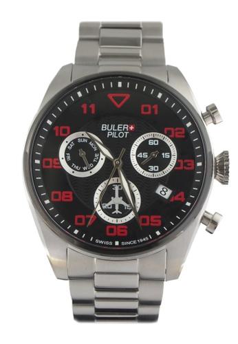 Buler black and silver Buler Sport Watch - Black - Gents - Date - 6H BU689AC2VG1KHK_1