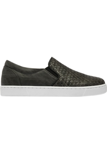 paperplanes grey Paperplanes-1371 Woven Tall Up Casual Slip-Ons Shoes US Women Size PA355SH02QBXSG_1