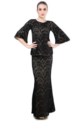 Maribeli Butik Vanessa Lace Saloma - Black Platinum from Maribeli Butik in Black