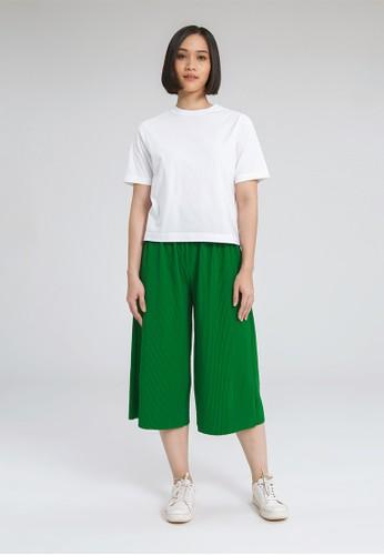 ALOWALO white ALOWALO - Cropped T-shirt Premium Crew Neck - White 69F13AA1CD956FGS_1