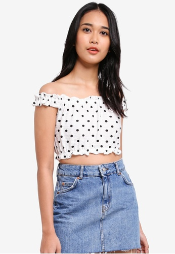 TOPSHOP white Petite Strappy Gypsy Crop 2D92AAA941B5F2GS_1