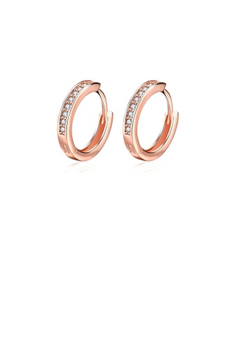 Glamorousky white Popular Plated Rose Gold Cubic Zircon Earrings 7D9A3ACFA8E615GS_1
