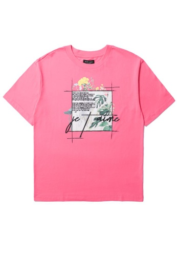 tout à coup pink Floral graphic print tee 52EAAAA5782D61GS_1