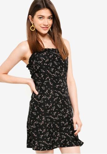Something Borrowed black Ruffled Cami Dress 8D252AA01B0BC2GS_1