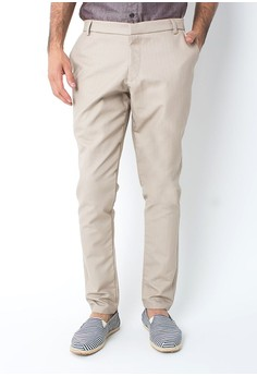 harga Cotton Twill Pants Beige Zalora.co.id