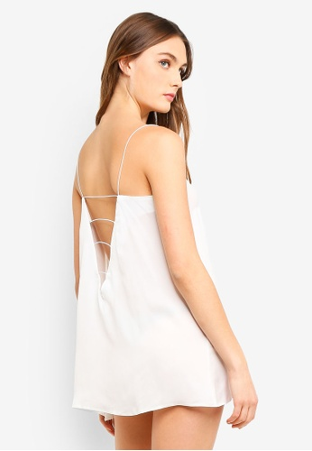 Bluebella white Sephy Chemise Slips A630AAA4A6CC6CGS_1
