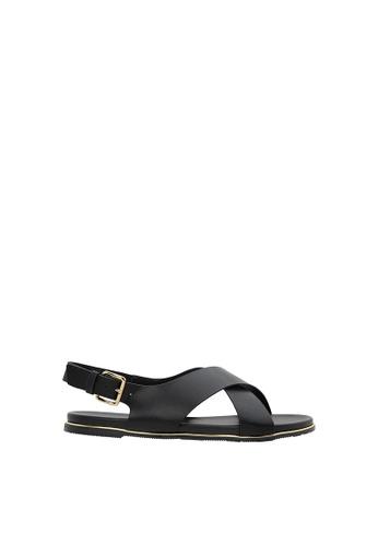 SEMBONIA black Women Synthetic Leather Flat Sandal BD849SH5E4C3FAGS_1