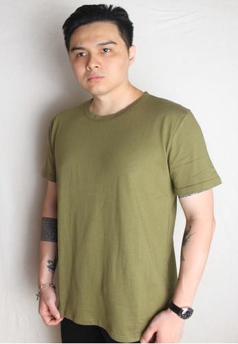 Amora Scarlett green Shinryuu Dragon Bejewelled Plain Oversized T-Shirt Army Green 3E97EAA02C819FGS_1