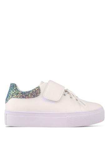 Something Borrowed white Velcro Lace Platform Sneaker 4210ASHDA9ABBCGS_1