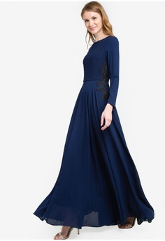 98af891b308 VERCATO blue Gabriell Chiffon Maxi Dress VE999AA41RYWMY 1