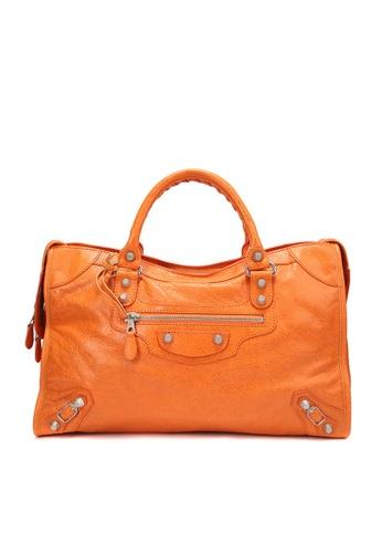 Balenciaga orange PRE-LOVED BALENCIAGA GIANT 12 SILVER HARDWARE CITY BAG C9D7EAC024999AGS_1