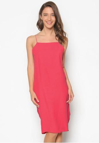 Keresprit鞋子rison 夾扣褶飾細肩帶洋裝, 服飾, 洋裝