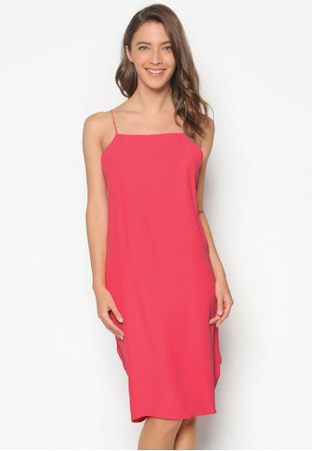 Kerresprit outlet 香港ison 夾扣褶飾細肩帶洋裝, 服飾, 洋裝