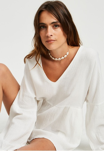 The Fated white Zamani Playsuit C6550AA4CAC3ECGS_1