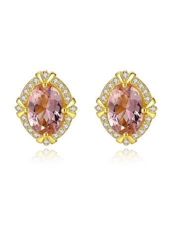 SUNRAIS gold High quality Silver S925 gold fashion earrings FCF31ACB4FB22CGS_1