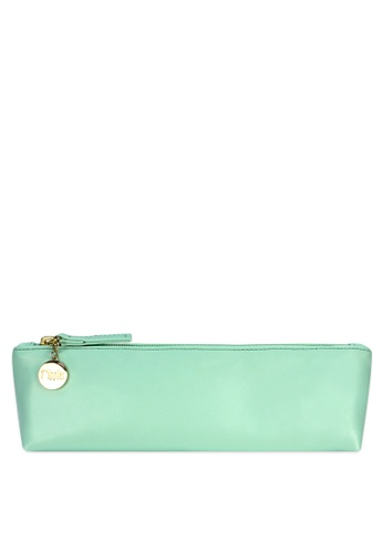 Ripples green Ripples Kaylyn Ladies PU Slim Leather Cosmetic Pouch 4EA39BE72A756FGS_1