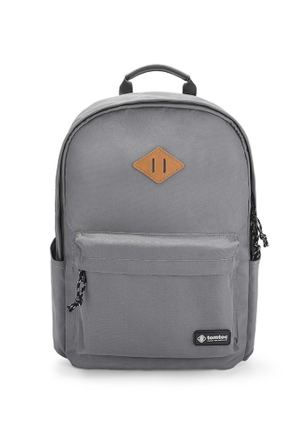 428704e555c586 tomtoc grey 15-15.6 Inch tomtoc College Laptop Backpack Casual Travel  Daypack School Bookbag Rucksack