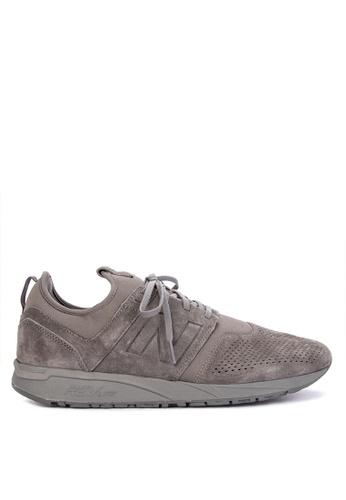 New Balance grey 247 Tonal Suede Sneakers 6034ESH98B06DAGS_1
