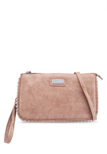 e1f2868933 PLAYBOY BUNNY brown Studded Clutch Bag 63022ACAEA2F80GS 1
